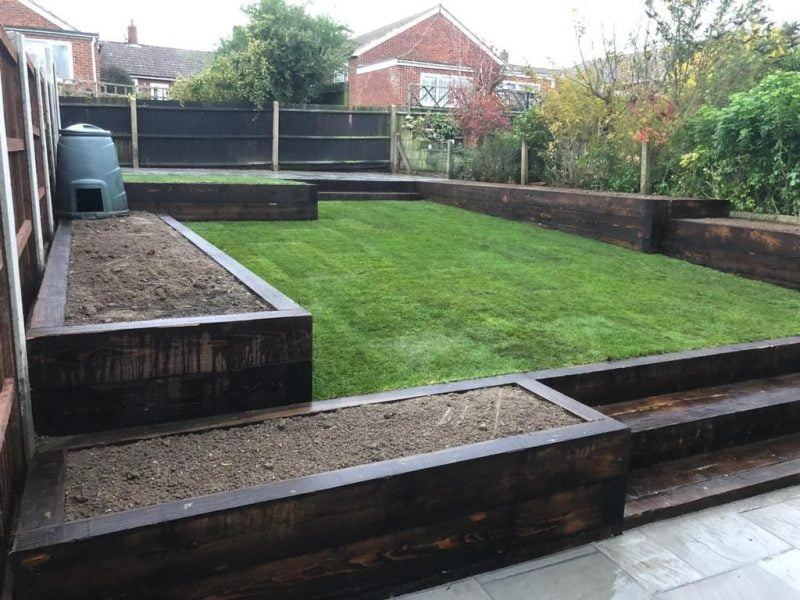 New Patio With Sleepers in Essex