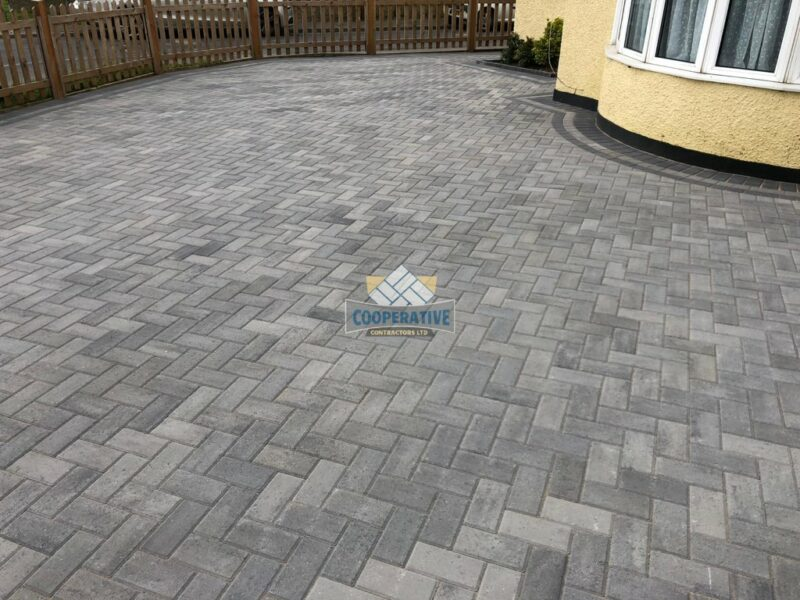 Ash Grey Block Paved Driveway in Wickford, Essex