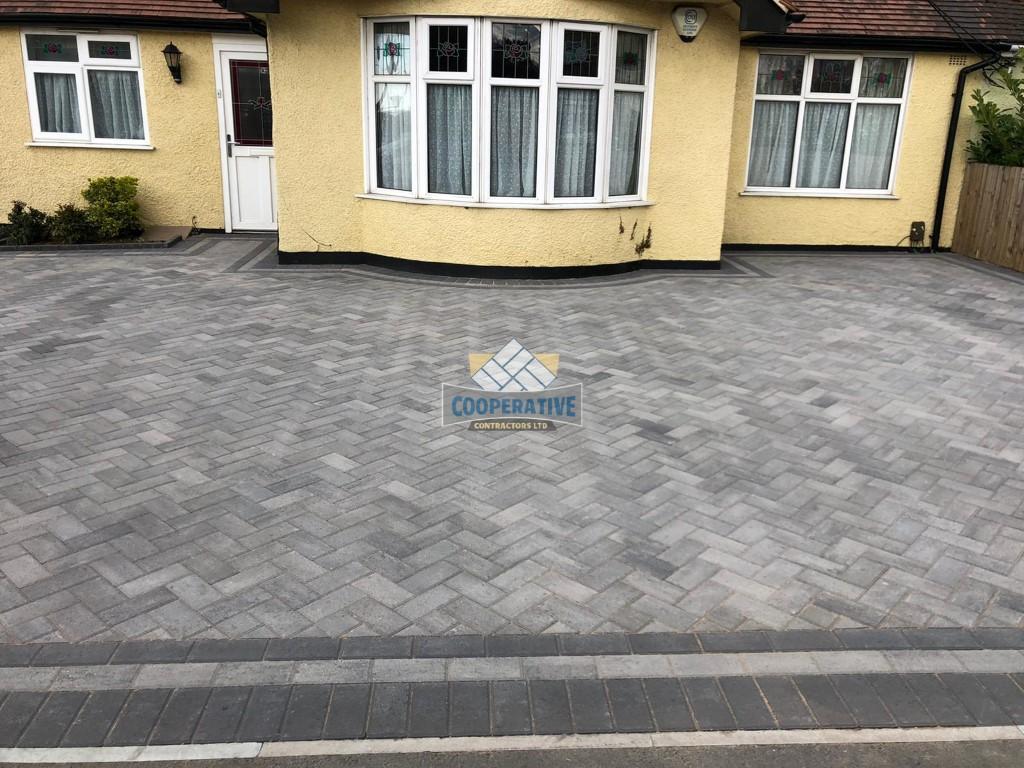 Ash Grey Block Paved Driveway in Wickford, Essex