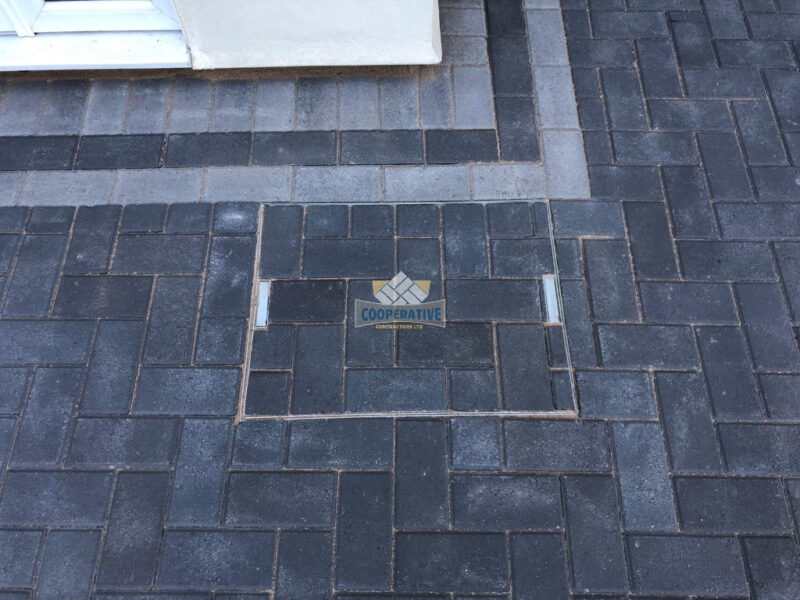Charcoal Paved Driveway with Light Grey Border in Wickford, Essex