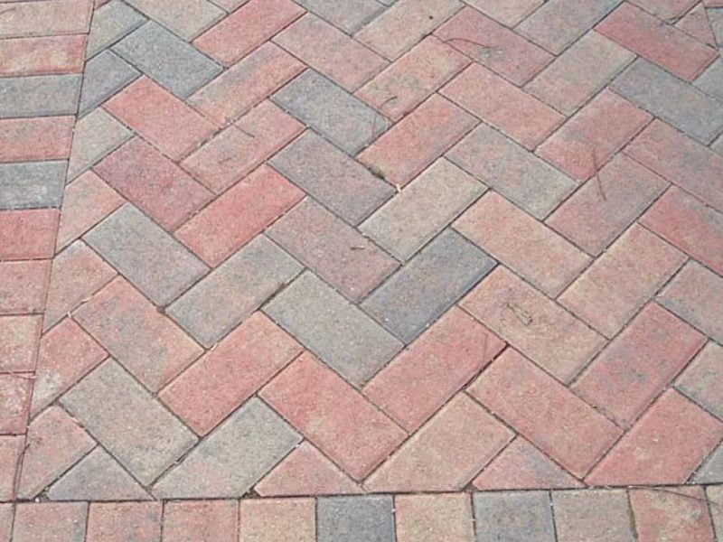 Herringbone Paving